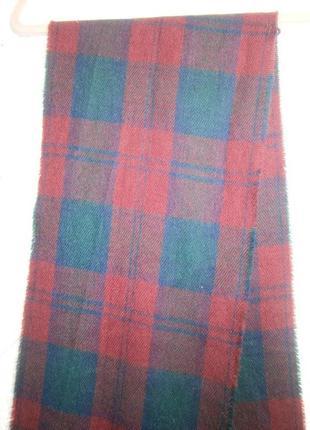 Мужской шарф шотландская клетка тартан