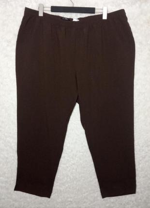 Стильные шоколадные брюки батал