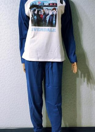 Женская хлопкавая пижама riverdale,домашний костюм