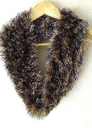 Чудесный теплый красивый мягенький шарф-хомут из травки
