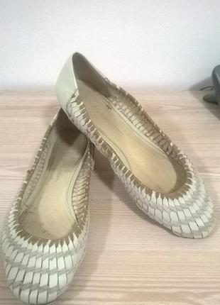 Кожаные плетеные балетки от shoe factore на не узкую ногу!!!