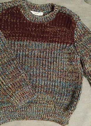 Mango свитер металлик