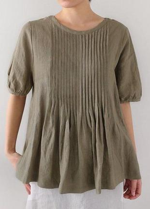 Блуза-туника бежевая