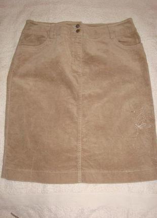 Велюровая женская юбка, р. l, р. 40, бу