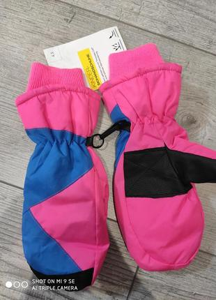Краги термо варежки лыжные рукавицы crivit размер 4,5 (6-8 лет)