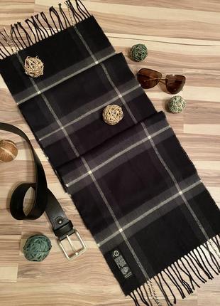 Элегантный мужской шарф из тонкой шерсти 32/160🐑 (германия🇩🇪)