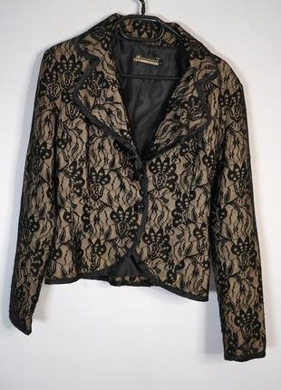 Женский пиджак в ажурную сетку