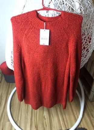 Модний подовжений светр ,актуальний рукав!