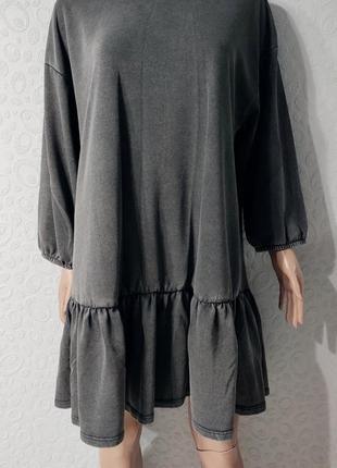 Стильное платье туника, большой размер, оверсайз