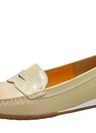 Кожаные туфли балетки мокасины ara newport р.39 в отличном состоянии