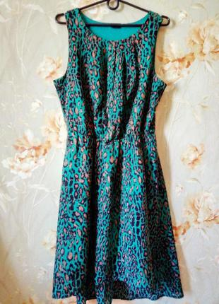 Платье со шлейфом с завышенной талией на подкладке фирмы bodyflirt, размер 52/54