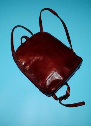 Рюкзак маленький бордовый городской бренд adax  дания изящный оригинал