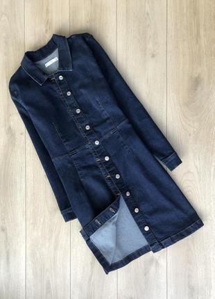 Классное джинсовое рубашка платье
