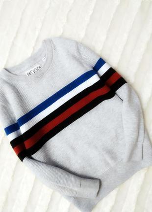 Стильный фактурный свитшот свитер