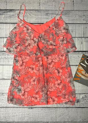 Яркое неоновое платье сарафан в цветочный принт