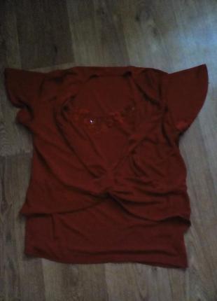 Красная нарядная футболка 2в1