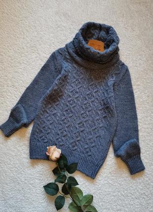 Винтажный свитер с горловиной