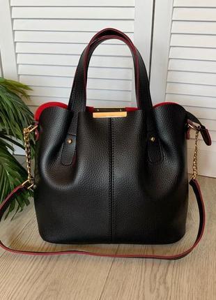 Новая женская сумка на три отделения