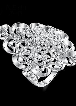 Кольцо снегурка  покрытие 925 серебро проба