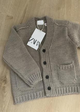Новий в'язаний кардиган, крфта, светр 18-24 місяці