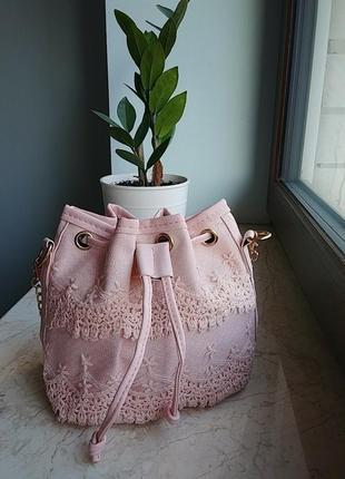 Нежная сумочка мешок, клатч, сумочка ,кружева