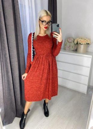 Теплое платье из ангоры софт.разные цвета и размеры