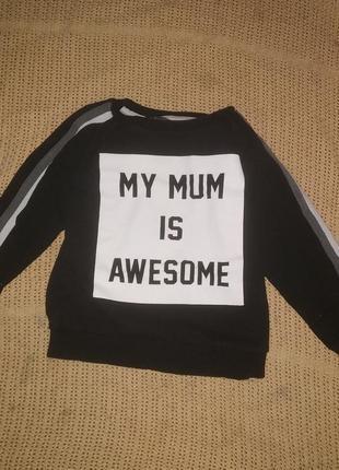 Теплый свитшот моя мама прикрасна