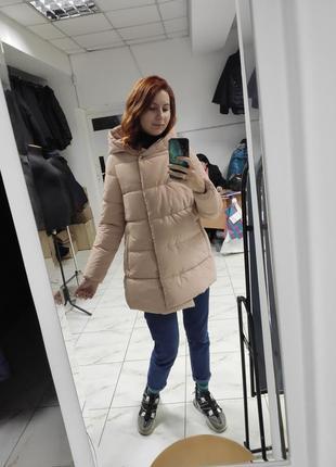 Модная бархатная зимняя куртка ktl-358, цвет пудра