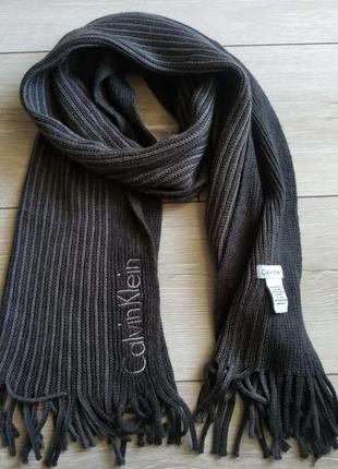 Зимний мужской шарф calvin klein