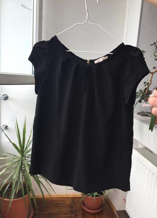 Шифоновая футболка блуза с коротким рукавом