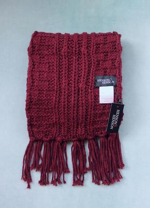 Henson&henson® вязаный длинный шарф