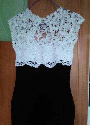 Елегантное платье  ручной работы