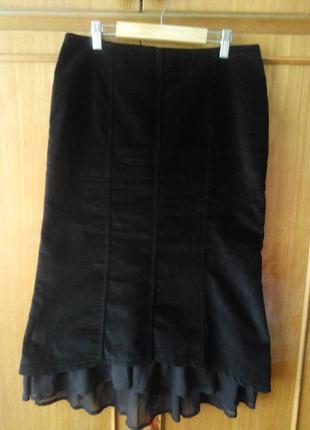 Красивая велюровая юбка george
