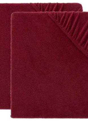Натяжная флисовая простынь чехол на резинке 160 x 200 meradiso
