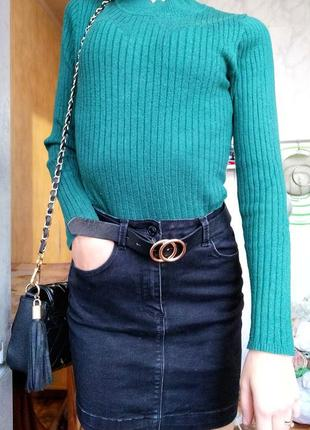 Черная джинсовая юбка misguided