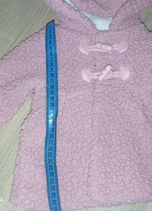 Плюшевое пальто для малышки