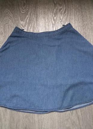 Летняя джинсовая юбка-солнце