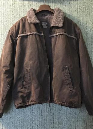 Тепла зимова куртка дубленка 52-54 розмір