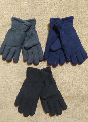 Детские флисовые перчатки двойные