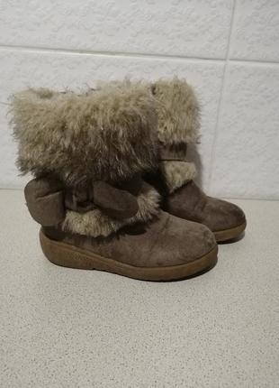 Хорошенькі текстильні черевики з утепленням