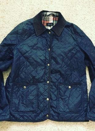 Куртка синяя стёганая из topshop