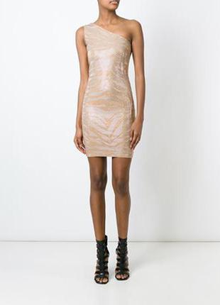 Платье на одно плечо с пайетками