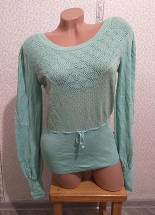 Легкий джемпер, блуза х/б.(3699)