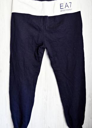 Очень крутые темно-синие катоновые спортивные штаны на махровочке фирмы emporio armani