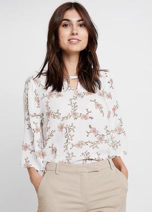 Красивая блуза свободная в цветы вискоза оригинал kaffe
