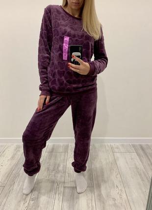 Женская пижама пушистый флис primark, англия.