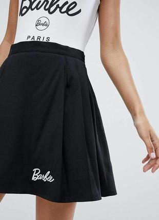 Мини юбка в складку барби barbie missguided
