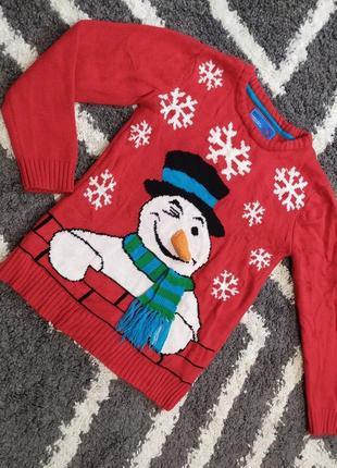Новогодний свитерок с бомбезным снеговиком rebel