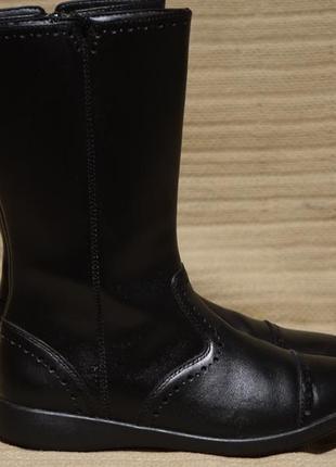 Высокие черные перфорированные кожаные сапоги clarks англия 32 1/2 р.