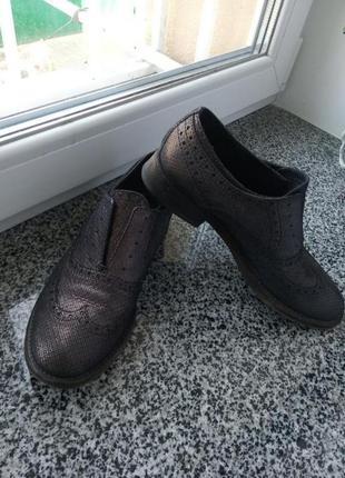 Кожаные туфли лоферы челси италия